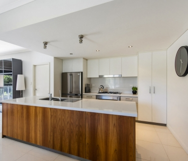 Tastefully furnished and modern three bedroom two bathroom apartment